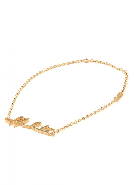 Logo necklace gold