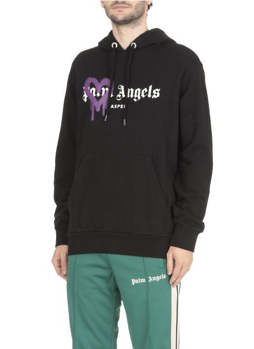 Aspen heart sprayed hoodie