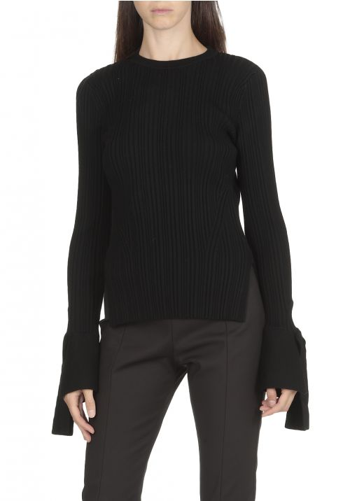Wool ribbed sweater