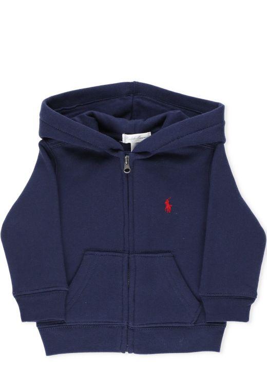 Logo hooded sweatshirt