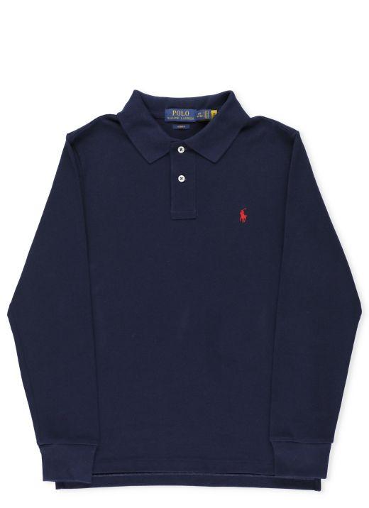 Long sleeves polo shirt