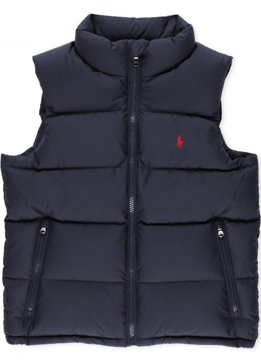 Logo quilted down jacket