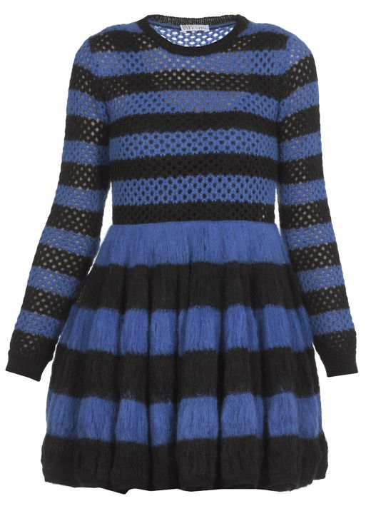 Knitted dress with stripes