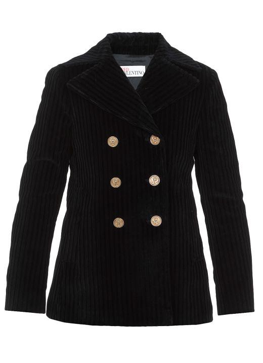 Ribbed velvet jacket