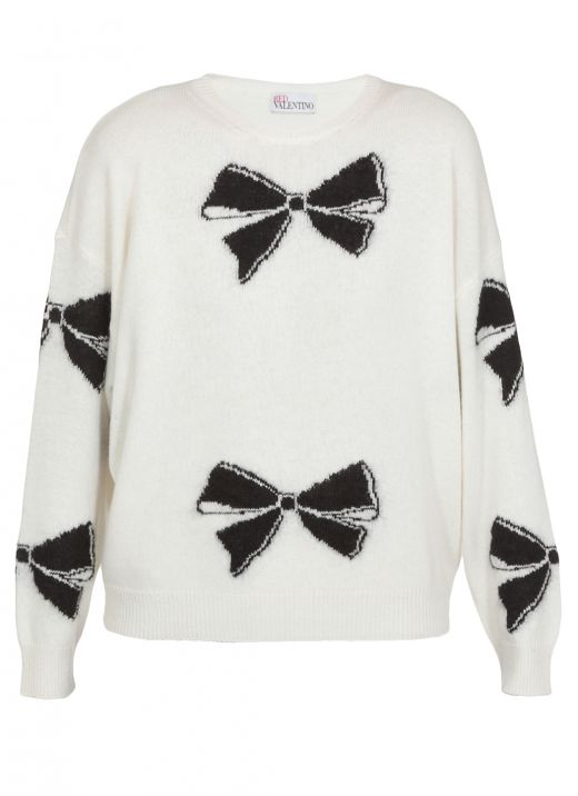 Sweater with bows pattern