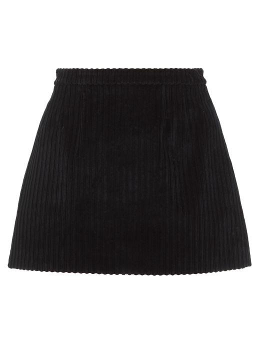 Velvet miniskirt