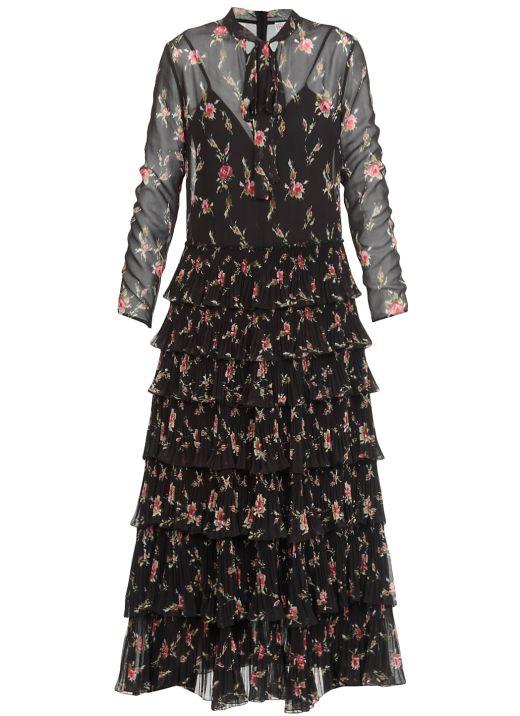 Floral dress with flounces