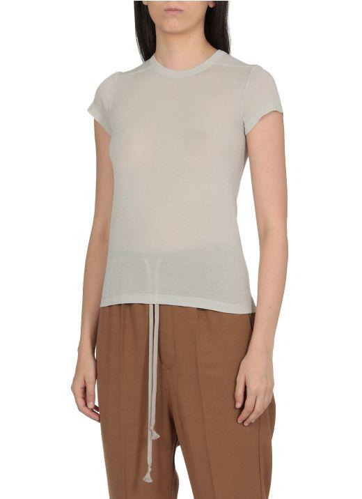 Viscose and silk blend t-shirt