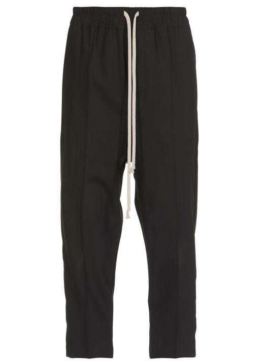 Wool cropped pant