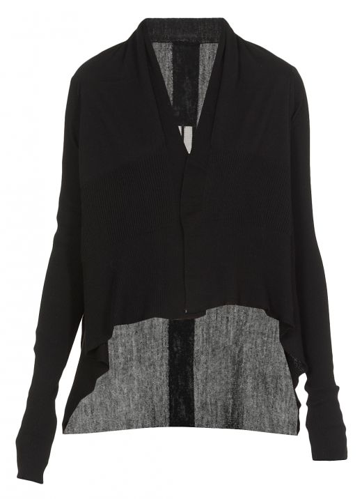 Asymmetric knitted cardigan