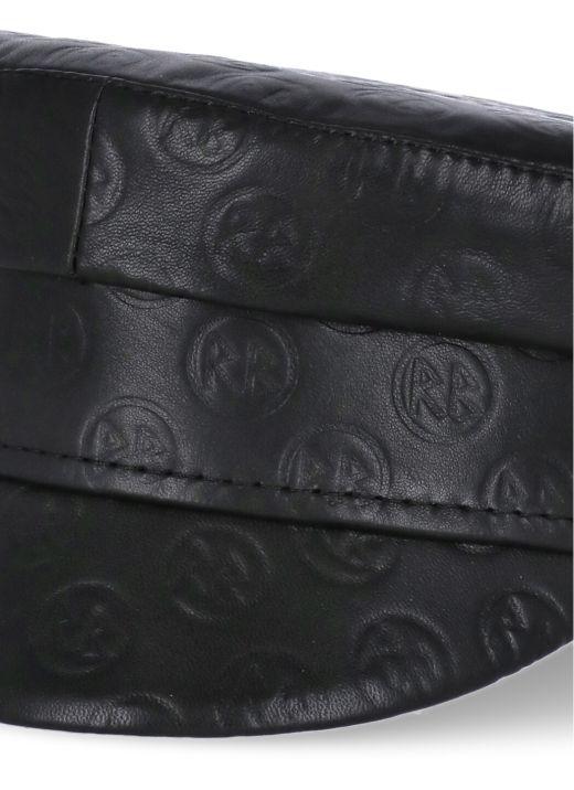 Leather Baker Boy Cap