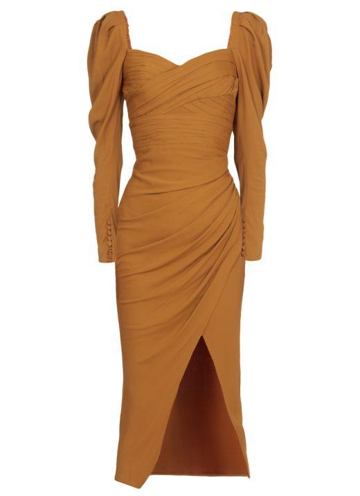 Stretch Crepe Midi Dress