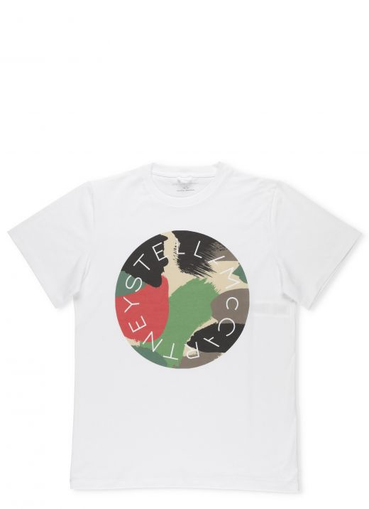 Cotton T-Shirt with Camouflage Logo