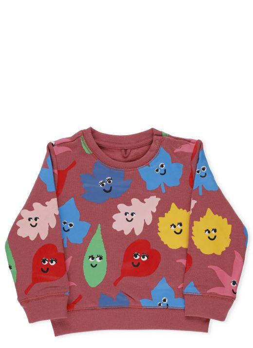 Smiley leaves sweatshirt