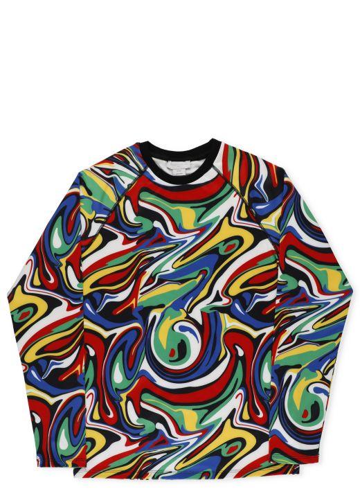 Multicolor stretch sweater