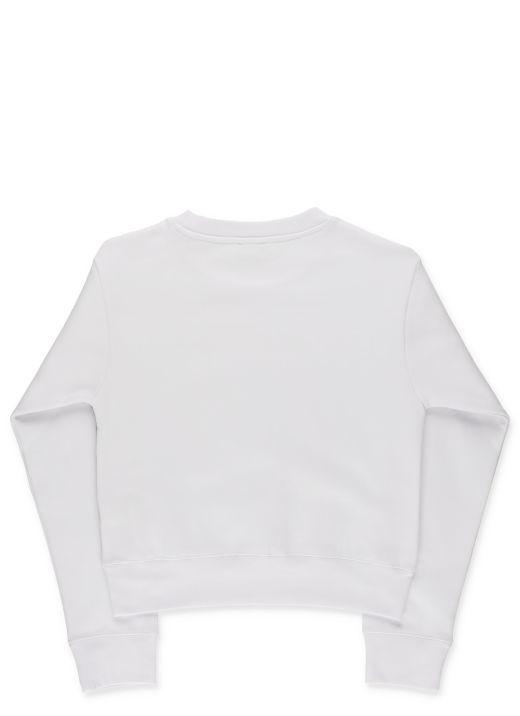 Sweatshirt with logo stripey