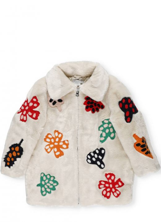 FFF coat with embroidered leaves