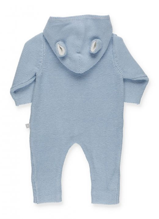 Doggie knitted baby romper