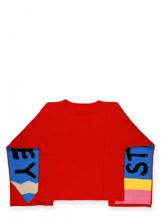 Sweater with Pencil print