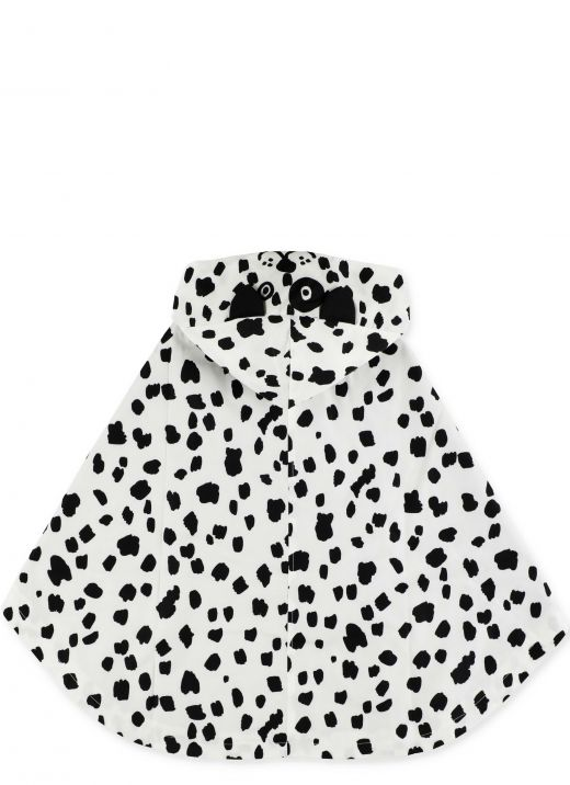 Waterproof cape with spotted print