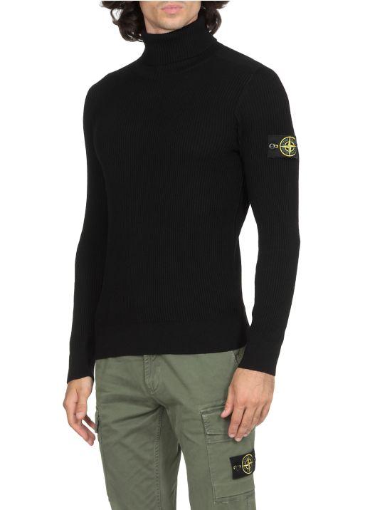 Fisherman rib wool sweater
