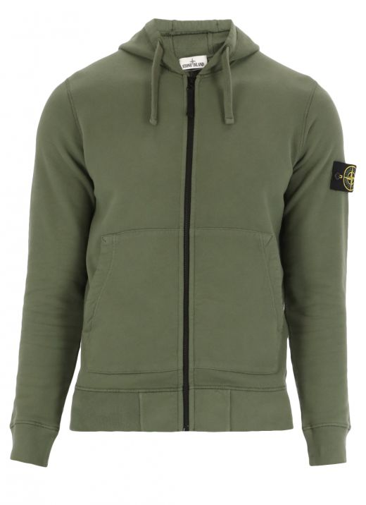 Hoodie with loged patch