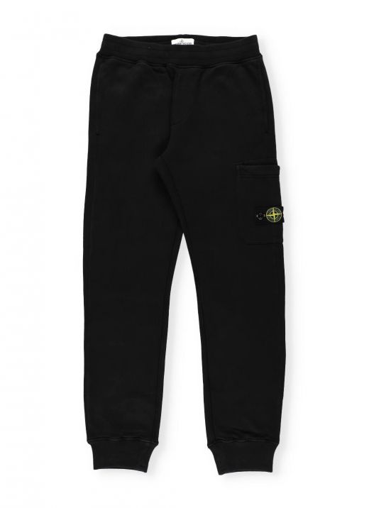 Pants with iconic loged patch