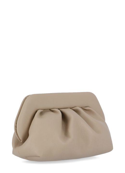 Bio grained eco-leather clutch bag