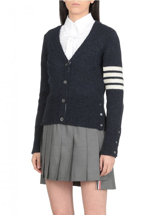 Cardigan di maglia 4Bar in lana