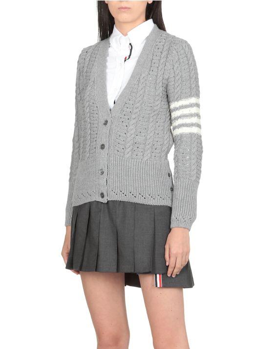 4 Bar knitted cardigan