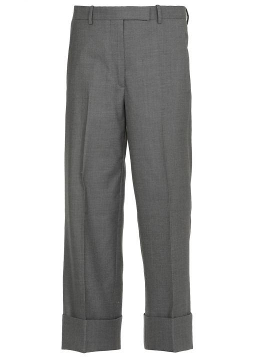 Pantaloni morbidi in twill di lana