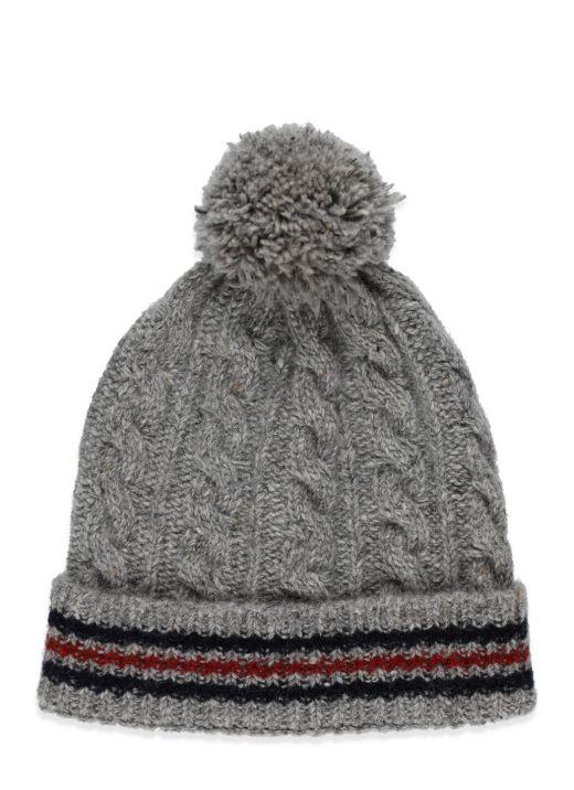Cappello con pom pom in lana