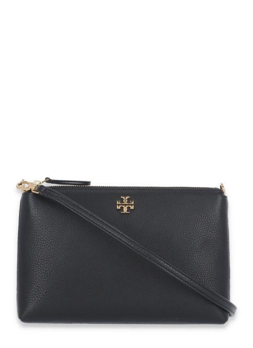 Kira leather clutch