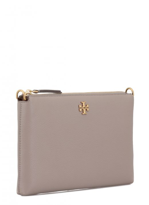 Pebbled leather clutch bag