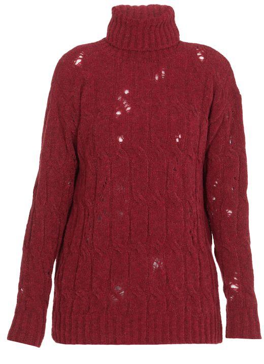 High neckline sweater