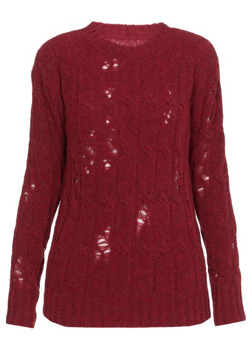 Aran knit sweater