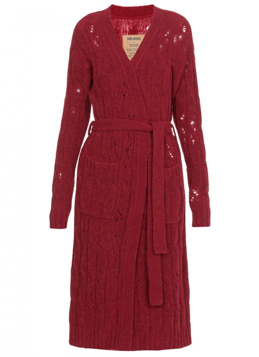 Virgin wool knitted cardigan