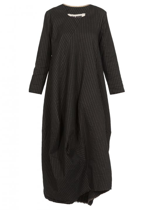 Pinstriped long dress