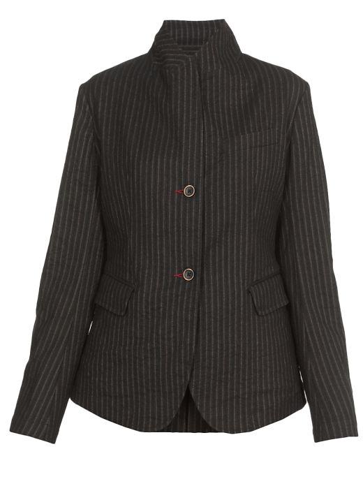 Single-breasted pinstripe blazer