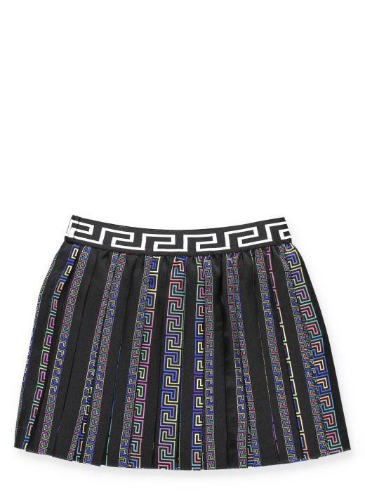 Neon greek print skirt