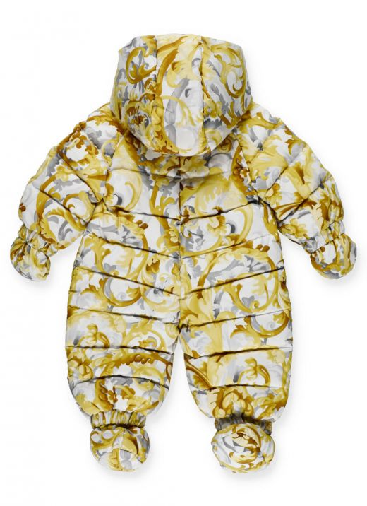 Ski suit with baroccoflage print