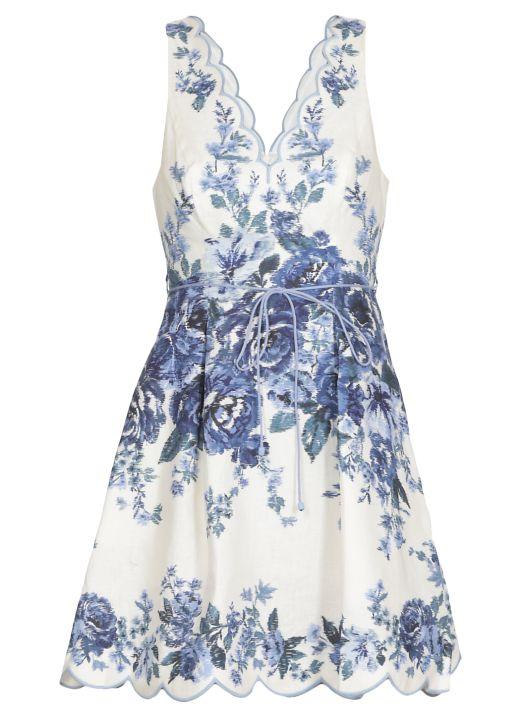 Aliane Scallop Mini Dress