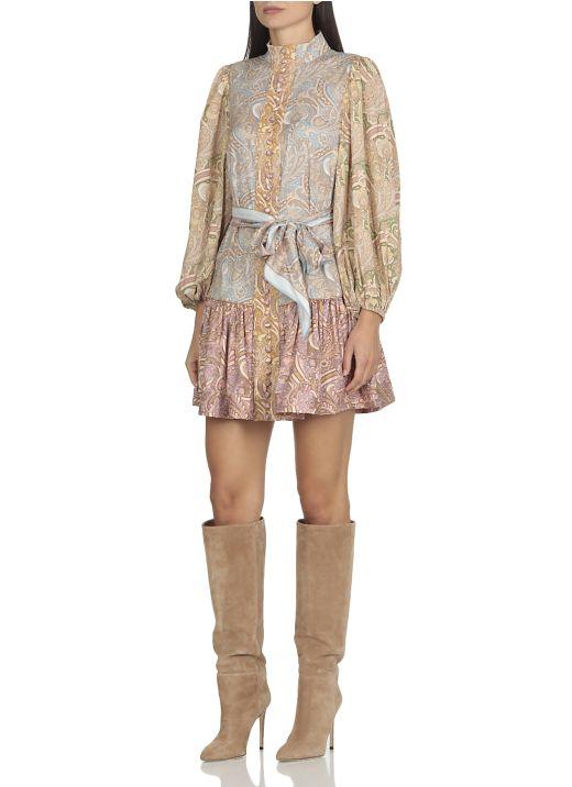 Tempo silk mini dress