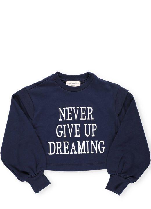 Felpa Never Give Up Dreaming