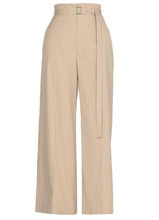 Cotton high waisted trouser