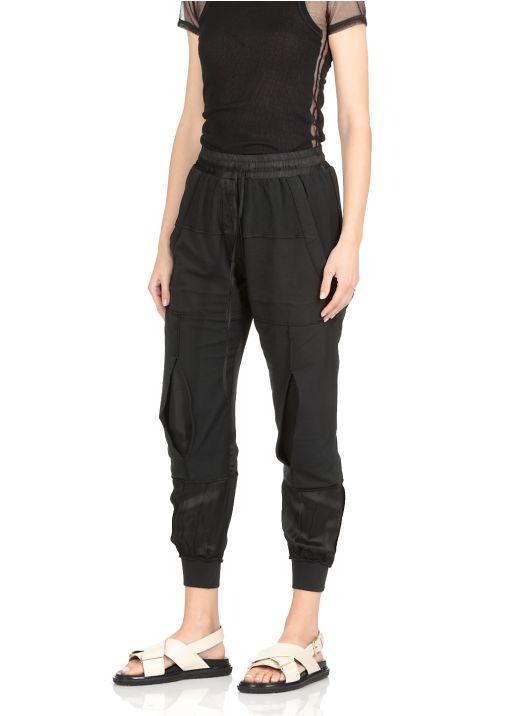 Patchwork cotton pants