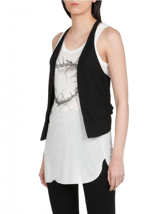 Silk and wool gilet