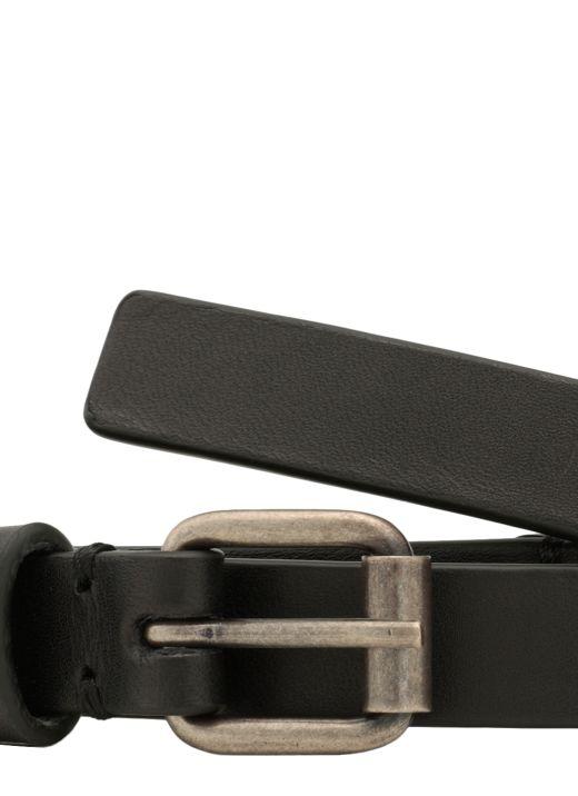 Leather triple belt