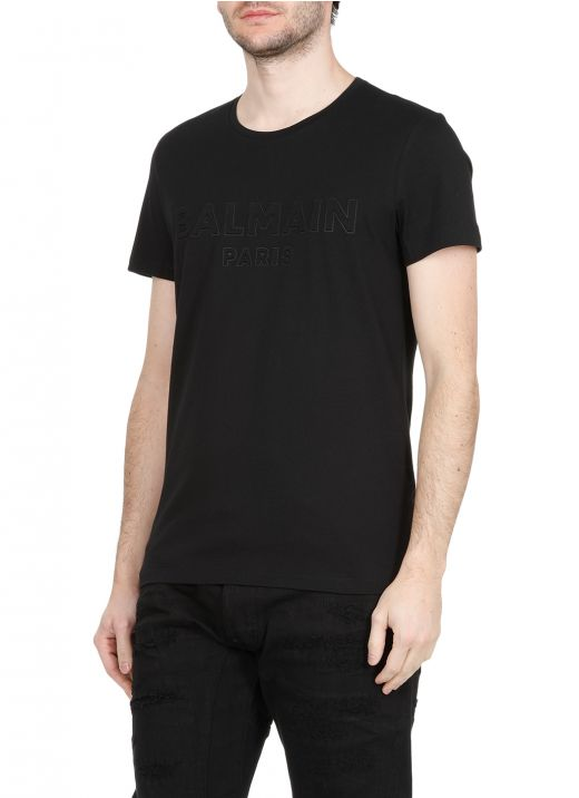 T-shirt with embossed logo
