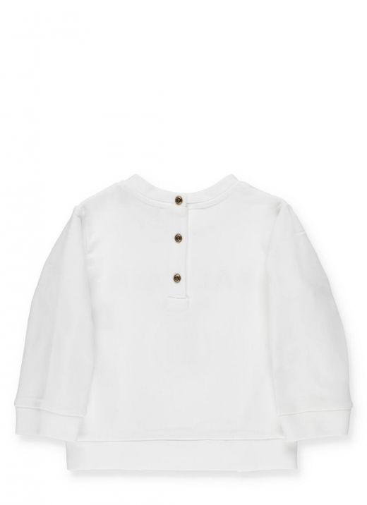 Loged sweatshirt with buttons
